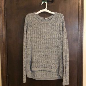 LOFT grey sweater with front slits